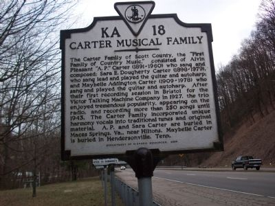 Carter Musical Family Marker, at its original location image. Click for full size.