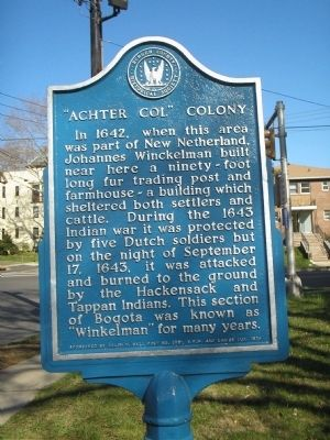 """Achter Col"" Colony Marker image. Click for full size."