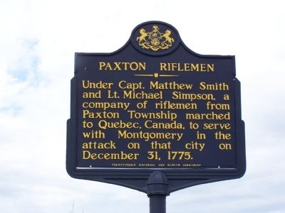 Paxton Riflemen Marker image. Click for full size.