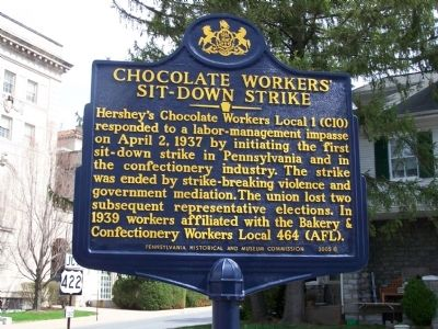 Chocolate Workers' Sit-Down Strike Marker image. Click for full size.