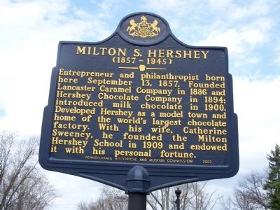 Milton S. Hershey Marker image. Click for full size.