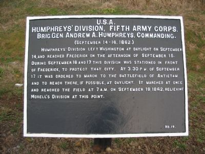 Humphreys' Division Tablet image. Click for full size.