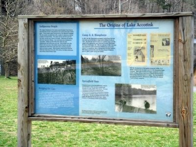 The Origins of Lake Accotink Marker image. Click for full size.