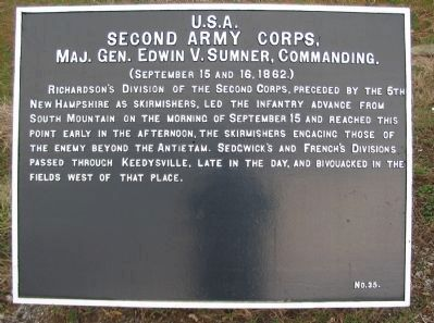 II Corps Tablet image. Click for full size.