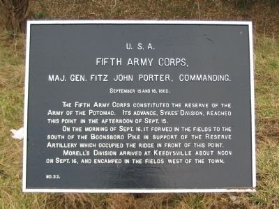Fifth Corps Tablet image. Click for full size.
