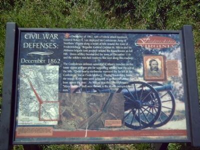 Civil War Defenses Marker image. Click for full size.