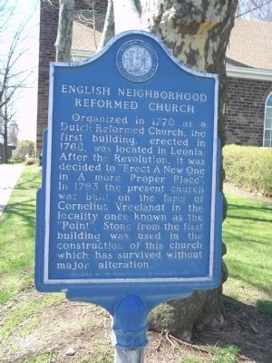 English Neighborhood Reformed Church Marker image. Click for full size.
