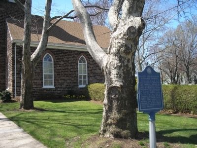 Marker at English Neighborhood Reformed Church image. Click for full size.