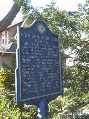 Paulison – Christie House Marker image. Click for full size.
