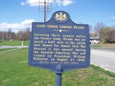 Camp George Gordon Meade Marker image. Click for full size.