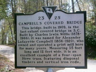 Campbell's Covered Bridge Marker image. Click for full size.