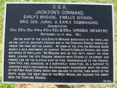 Early's Brigade Tablet image. Click for full size.