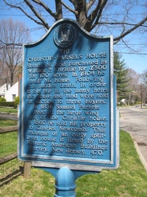 The Christie-Parsels House Marker image. Click for full size.