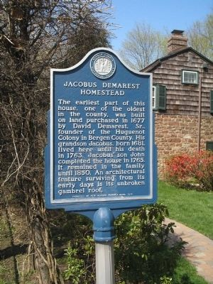 Jacobus Demarest Homestead Marker image. Click for full size.