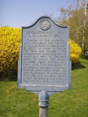 Revolutionary War Encampment Marker image. Click for full size.
