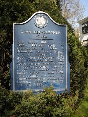 Demarest-Bloomer House Marker image. Click for full size.