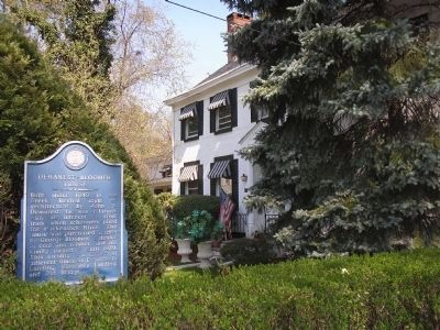 Demarest-Bloomer House and Marker on River Edge Ave image. Click for full size.