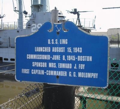 U.S.S. Ling Marker image. Click for full size.