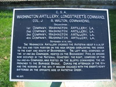Washington Artillery Tablet for September 15-16 image. Click for full size.
