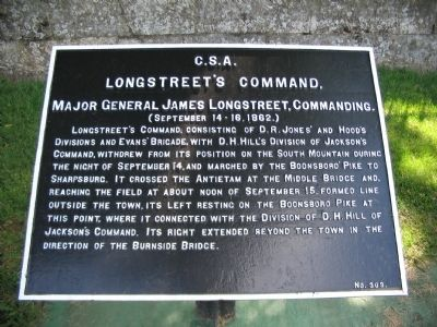 Longstreet's Command, September 15-16 Tablet image. Click for full size.
