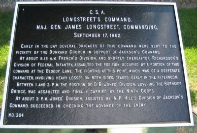Longstreet's Command, September 17 Tablet image. Click for full size.