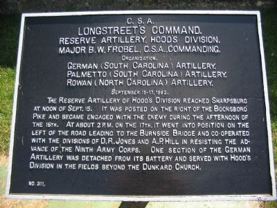Hood's Division Artillery Tablet image. Click for full size.