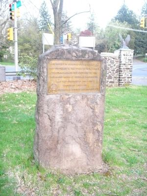 Marker in Washington Crossing State Park image. Click for full size.