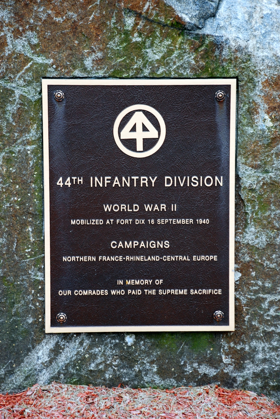 44th Infantry Division Memorial Marker