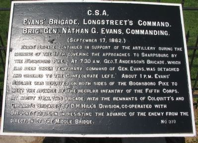 Evans' Brigade Tablet for September 17 image. Click for full size.
