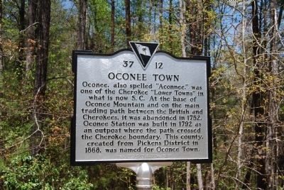 Oconee Town Marker image. Click for full size.