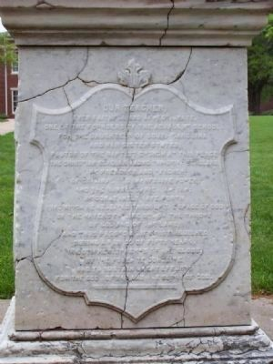 The Reverend Thomas Curtis, D.D. Marker </b><i>( South face )</i> image. Click for full size.