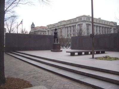 Pershing Park: Memorial to Gen. John J. Pershing and the American Expeditionary Forces, WWI image. Click for full size.