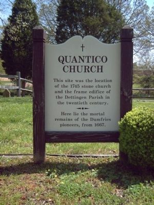 Quantico Church Marker image. Click for full size.
