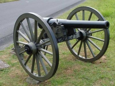 10 Pound Parrott Rifle Mounted on Carriage image. Click for full size.