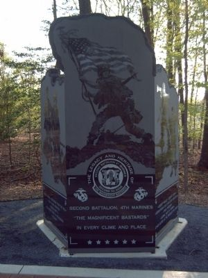 Second Battalion, 4th Marines Marker image. Click for full size.
