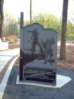 Second Battalion, 4th Marines Marker </b>(right side) image. Click for full size.