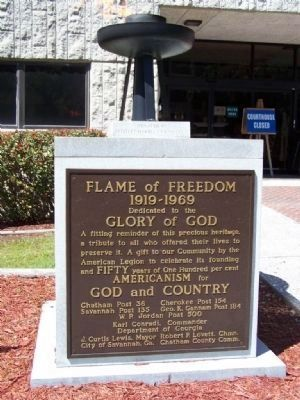 Flame of Freedom Marker image. Click for full size.