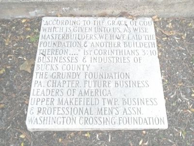 Credit Marker (Rear of Monument) image. Click for full size.