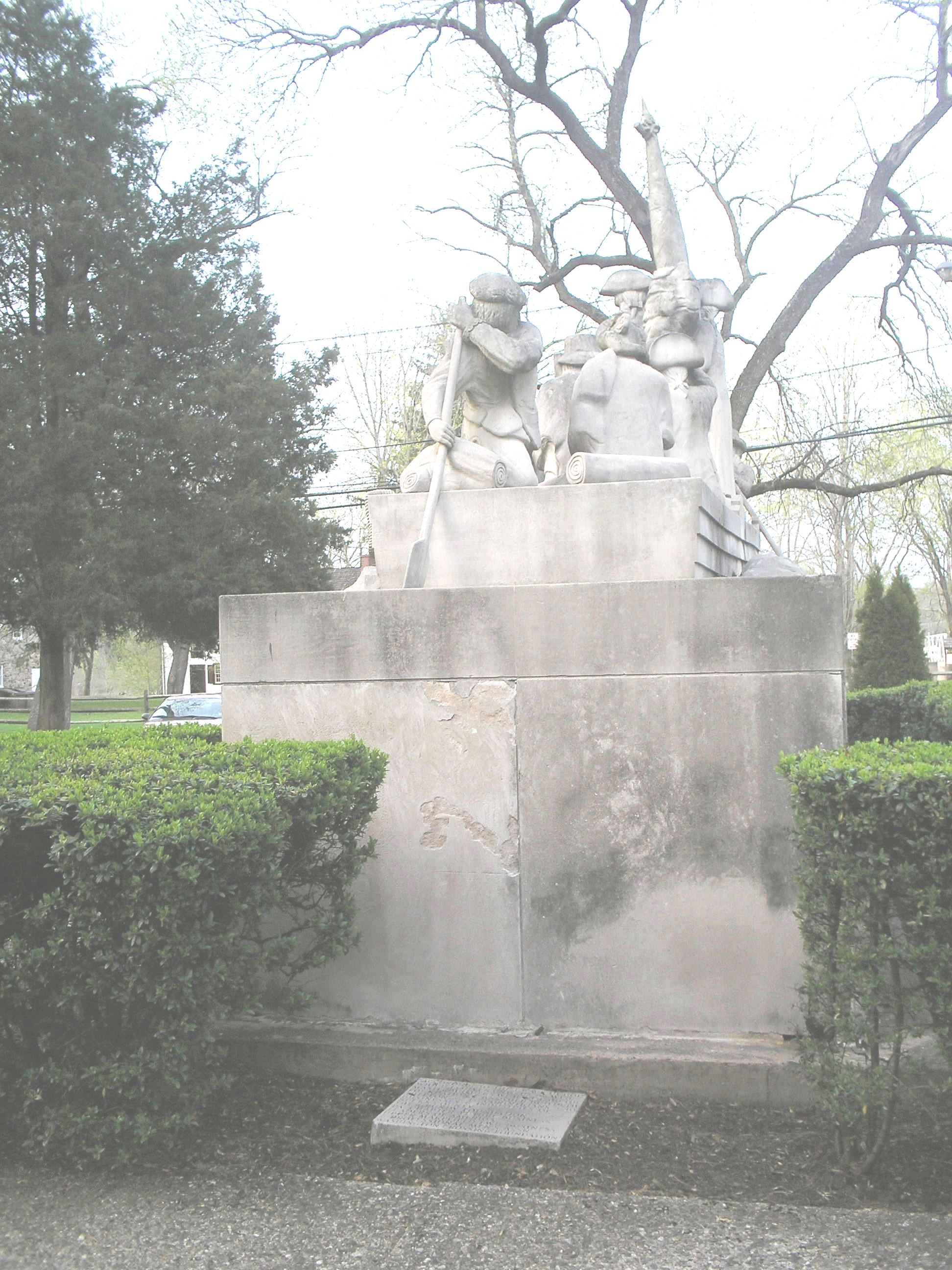 Rear of Monument with Credit Marker