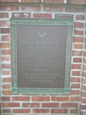 The De Wint House Marker image. Click for full size.