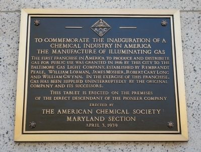 To Commemorate the Inauguration of a Chemical Industry in America Marker image. Click for full size.