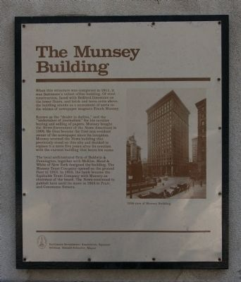 The Munsey Building Marker image. Click for full size.