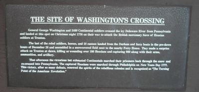 The Site of Washington's Crossing Marker image. Click for full size.