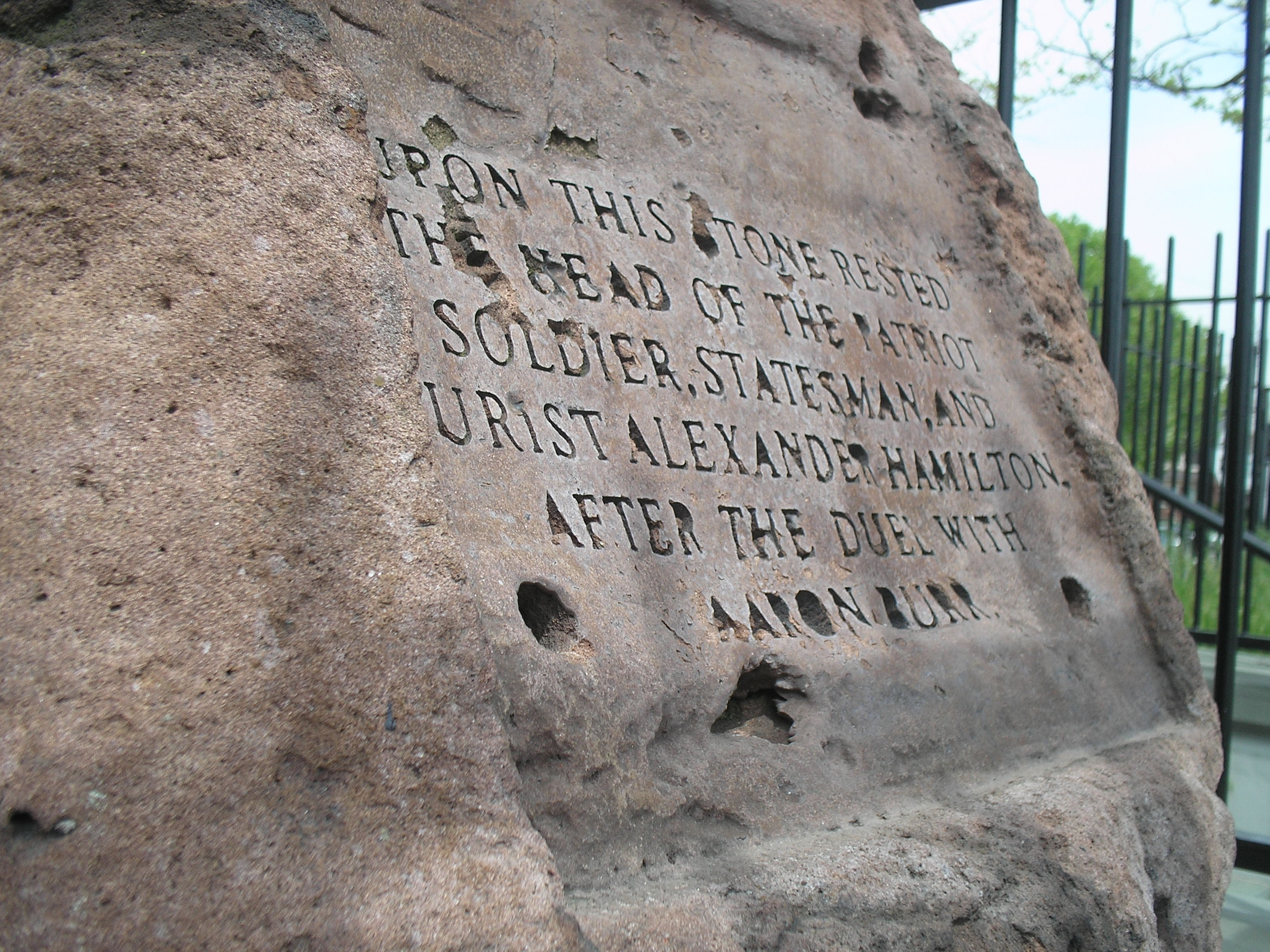 Death Rock of Alexander Hamilton