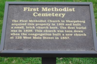First Methodist Cemetery Marker image. Click for full size.