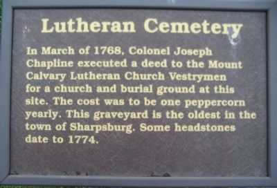 Lutheran Cemetery Marker image. Click for full size.