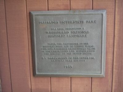 Palisades Interstate Park Marker image. Click for full size.