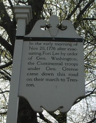 March to Trenton Marker image. Click for full size.
