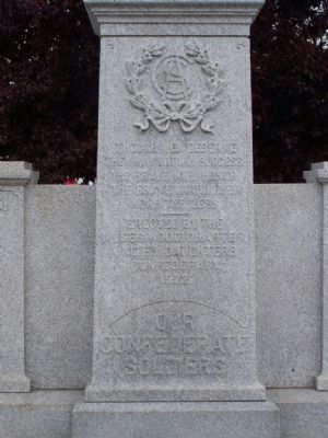 Our Confederate Soldiers Marker Close-up image. Click for full size.