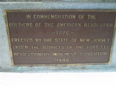 Marker on front of Monument image. Click for full size.